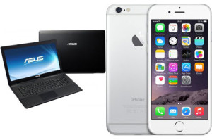 Asus Laptop + Apple iPhone 6